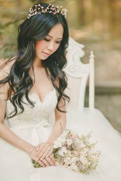 Fairy Tale Inspired Wedding Photos   Kristin Booth Photography   http://heyweddinglady.com/enchanting-mountain-bridal-portraits/