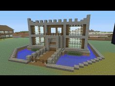 Minecraft Tutorial: How To Make A CASTLE!! Survival House (ASH#23) - YouTube