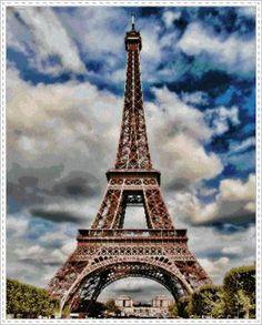 Patrón en PDF para Punto de Cruz de la Torre Eiffel