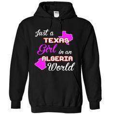 Texas-Algeria Girl T Shirts, Hoodies. Check price ==► https://www.sunfrog.com//Texas-Algeria-Girl-8868-Black-Hoodie.html?41382