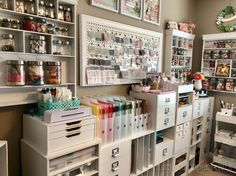 Hello everyone! I have been working on some re-organization for my craft room lately and thought I would share what I have done. I did a post on this a few years but have changed a few things up since then. I am very blessed to have a room solely devoted to a craft room …