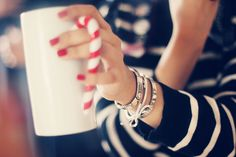 Love the cup, love the nails, and love that she's rockin' the Nomination Bracelet...I still wear mine!!!  #armcandy