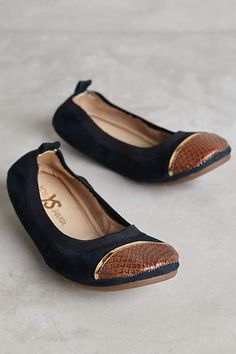 Yosi Samra Sybil Cap-Toe Fold-Up Flats - anthropologie.com (size 10)