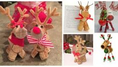 12 Craft Ideas For Making Cork Reindeer Ornaments