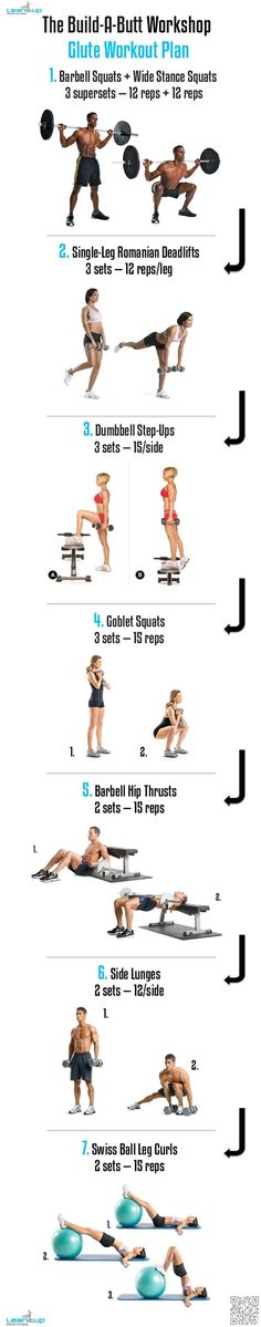18. #Build-a-Butt Workshop - 23 Fit Butt #Infographics That Will Transform Your #Derrière and Your Life ... → #Fitness #Workout