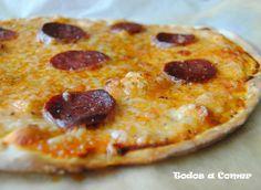Receta pizza pepperoni