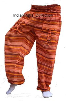 Bohemian Harem Trousers Pants Gypsy Boho Baggy Genie Yoga Men Women Trousers #HaremPants #Harem