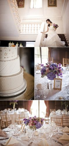Purple and White wedding at de Seversky