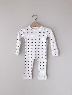 0c8e8237e Organic Pajama Set - Swiss Cross Modern Burlap Locale: Texas, USA Color:  Black