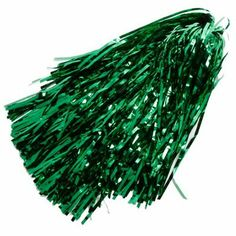 Green Metallic Rooter Pom