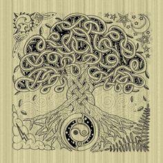 Celtic Tree of Life Inked  GallerycelticbyKristen Fox