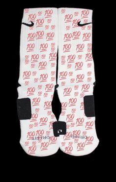 100 Emoji Custom Nike Elite Socks by EliteHeadquarters on Etsy, $24.99