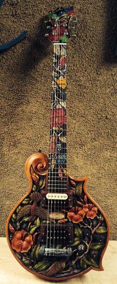"Blueberry New Handmade Electric Guitar 27"""" Floral | eBay"