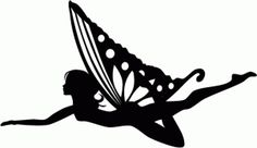Silhouette Design Store - View Design #77050: butterfly fairy