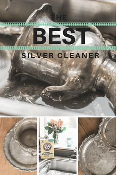The absolute BEST silver cleaner - learn how to easily clean tarnished silver without scrubbing