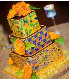 (notitle) - Welcome to Wakanda - Mariage African Wedding Cakes, African Wedding Theme, African Theme, African Style, Ghana Traditional Wedding, Traditional Decor, African Cake, African American Weddings, African Weddings