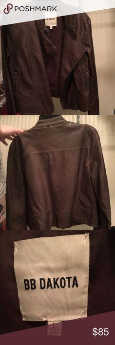 Selling this BB Dakota Faux Leather jacket on Poshmark! My username is: nrubin. #shopmycloset #poshmark #fashion #shopping #style #forsale #BB Dakota #Jackets & Blazers