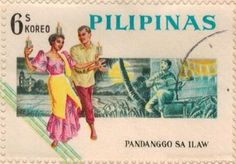Philippine Republic Stamp 1963 -On September the Bureau of Posts issued the first Philippine Republic stamps celebrating Filipino culture: a set of four stamps featuring popular Philippine folk dances printed by Thomas de la Rue and Co. Filipino Art, Filipino Culture, Philippine Mythology, Phillipines Travel, Philippines Culture, Manila Philippines, Folk Dance, Love Stamps, Small Words