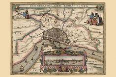 Map of Antwerp, Belgium