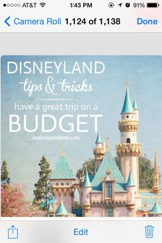 ✨✨✨DisneyLand Tips & Tricks: Have A Great Time On A Budget✨✨✨✈️ #Family #Trusper #Tip