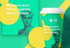 Et si Starbucks collaborait avec Spotify ? C'est la question que s'est posée Jack Lalley, un designer basé à Londres pour son nouveau projet graphique.