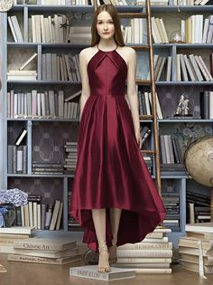 Lela Rose Bridesmaid Style LR233 (shown in burgundy)
