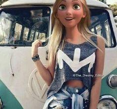 disney and rapunzel image Frozen Disney, Walt Disney, Disney Art, Disney Actual, Cute Disney, Disney Girls, Disney Style, Hipster Disney, Disney And Dreamworks