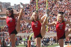 Despite losing 52-13 the Texas Tech cheerleaders still did their cheerleading routines perfect by Hazboy, via Flickr