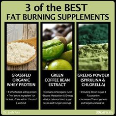 3 best fat burning supplements