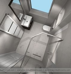 Nice compact ensuite idea- for the house I'm going to build