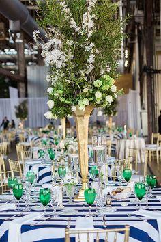 Tall wedding centerpieces | @lauren_fair | Brides.com