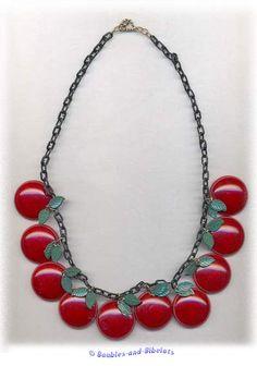 Vintage bakelite cherries are my favorite.