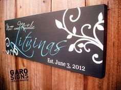 Personalized Wedding Sign with Custom Last Name And by GaroSigns, $32.99
