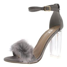 b34c735fbe9 Viva Womens Fluffy Glass Block Heel Party Cut Out Fashion High Heels Pumps.  These barley. Cute SandalsAnkle Strap ...