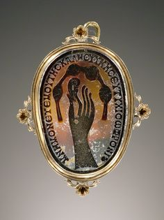 Agate Cameo Ring, Roman (in a modern gold setting), A.D. 400–500. The J. Paul Getty Museum