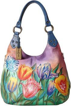 0d7348f83834 Anuschka Handbags 514 Large Shoulder Hobo at Zappos.com. Purses And HandbagsLouis  Vuitton HandbagsPainted BagsHand ...
