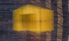 SPORTS collaborative punctuates santa barbara with colorful matrix pavilions