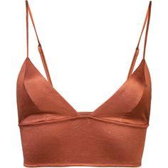 Fleur Du Mal triangle longline bra ($98) ❤ liked on Polyvore featuring intimates, bras, longline bra, fleur du mal, fleur du mal lingerie, lingerie bra and triangle bras