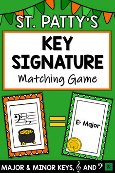 Music teachers, this fun St Patricks Day music games is perfect for music lessons for March! The printable card game works for all class sizes & is great for beginning band games, choir activities & orchestra lessons. Also fun for upper elementary Music Theory Games, Music Education Games, Music Activities, Music Games, Rhythm Games, Music Sub Plans, Music Lesson Plans, Music Lessons, Piano Lessons
