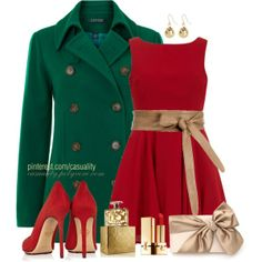 """""""Christmas Colors"""" by casuality on Polyvore"""