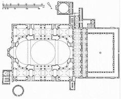 Ortaköy Mosque plan - Google Search Mosque Architecture, Architecture Plan, Building Drawing, Hagia Sophia, Floor Plans, How To Plan, Architectural Drawings, Buildings, Projects