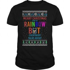 This cute cool LGBT thing makes a great gift for you your family or your friend: Rainbow bat Christmas LGBT Pride Tee Shirts T-Shirts