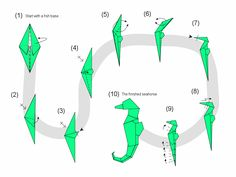 origami instructions in english | Origami Instructions: Sea Horse | web wanderers