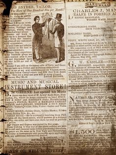 Old Newspaper - 60x80-script;vintage;old fashioned #EasyPin