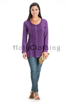 Shop Ceana Victorian Embroidery Shiffon Tunic Top In Purple Passion: http://holyclothing.com/index.php/ceana-vtg-victorian-embroidery-sheer-chiffon-tunic-top-blouse.html From $29.99. Repins are always appreciated :) #holyclothing #fashion