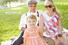 Vintage Picnic Family Photo session Melissa McClure Photography