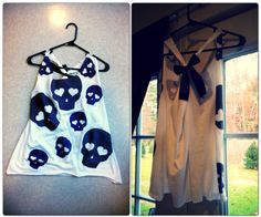NEW Skull Tank Top With Bow on Etsy, $19.99