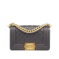 The Chanel Boy Quilted Lambskin Black Leather Shoulder Bag is a top 10  member favorite on Tradesy. a5a72bdc23