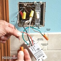 This article shows you a simple technique for adding a second switch to a stairway light or a light in any room in your home. It covers running new electric