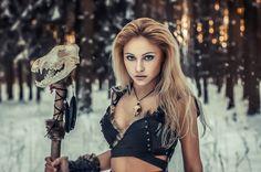 Wolf woman druid shaman larp fantasy